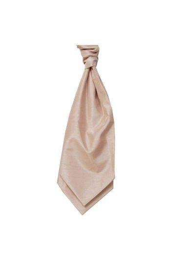 Mens LA Smith CHAMPAGNE Wedding Cravat - Adult Self Tie Cravat - Accessories