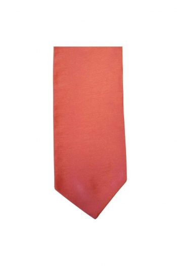 Mens LA Smith CORAL Wedding Cravat - Adult Self Tie Cravat - Accessories