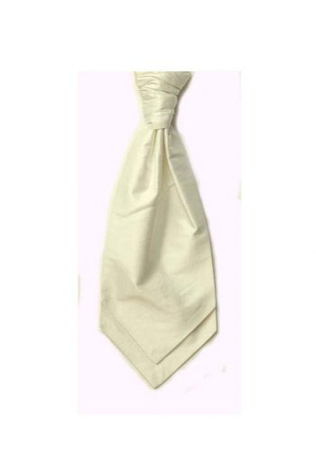 Mens LA Smith IVORY Wedding Cravat - Adult Self Tie Cravat - Accessories