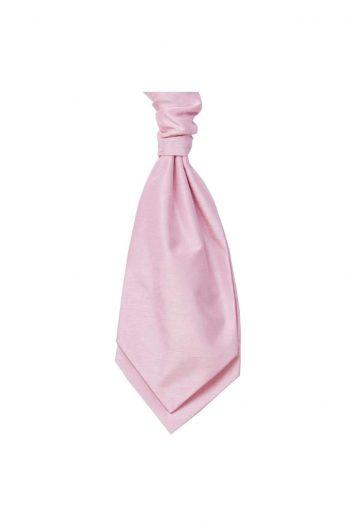 Mens LA Smith PINK Wedding Cravat - Adult Self Tie Cravat - Accessories
