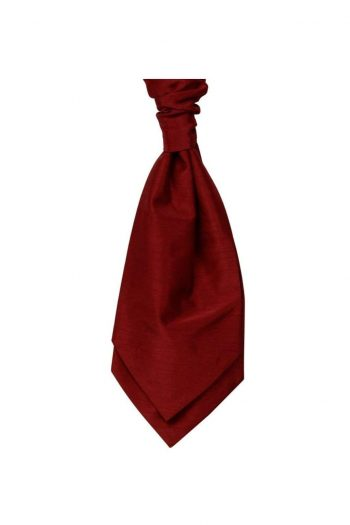 Mens LA Smith RED Wedding Cravat - Adult Self Tie Cravat - Accessories