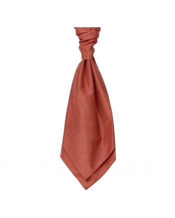 Mens LA Smith SALMON Wedding Cravat - Adult Self Tie Cravat - Accessories