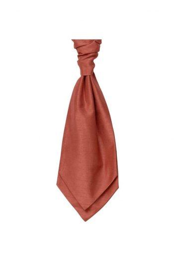 Mens LA Smith SALMON Wedding Cravat - Adult Self Tie Cravat - Accessories