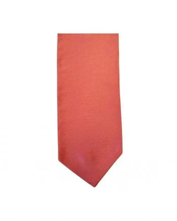 Mens LA Smith Self Tie Wedding Cravats - Coral - Accessories