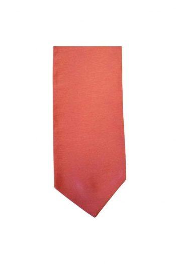 Mens LA Smith Self Tie Wedding Cravats - Coral - Accessories
