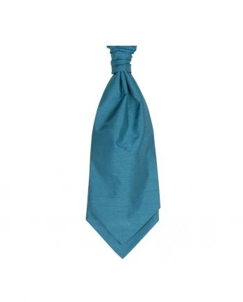 Mens LA Smith TEAL Wedding Cravat - Adult Self Tie Cravat - Accessories