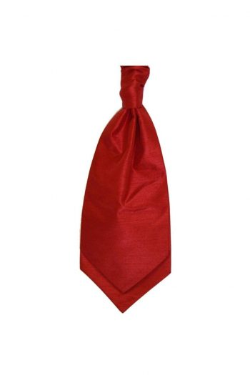 Mens LA Smith TOMATO Wedding Cravat - Adult Self Tie Cravat - Accessories