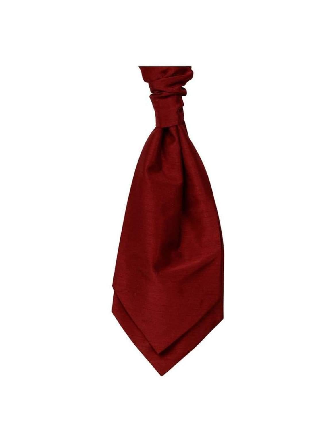 Mens LA Smith Wedding Pre-Tied Cravats - Red - Accessories