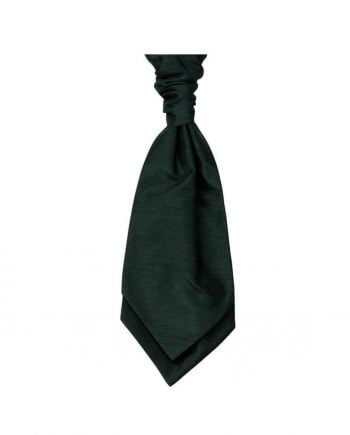 Mens LA Smith Wedding Self Tie Cravats - Bottle Green - Accessories