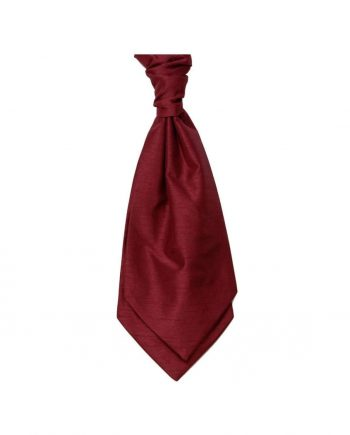 Mens LA Smith WINE Wedding Cravat - Adult Self Tie Cravat - Accessories