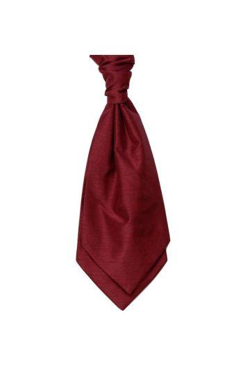 Mens LA Smith WINE Wedding Cravat - Adult Self Tie Cravat - Accessories
