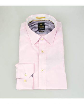 Mens Pink Oxford Stretch Shirt by Cavani - UK 14.5 | EU 37 - Shirts