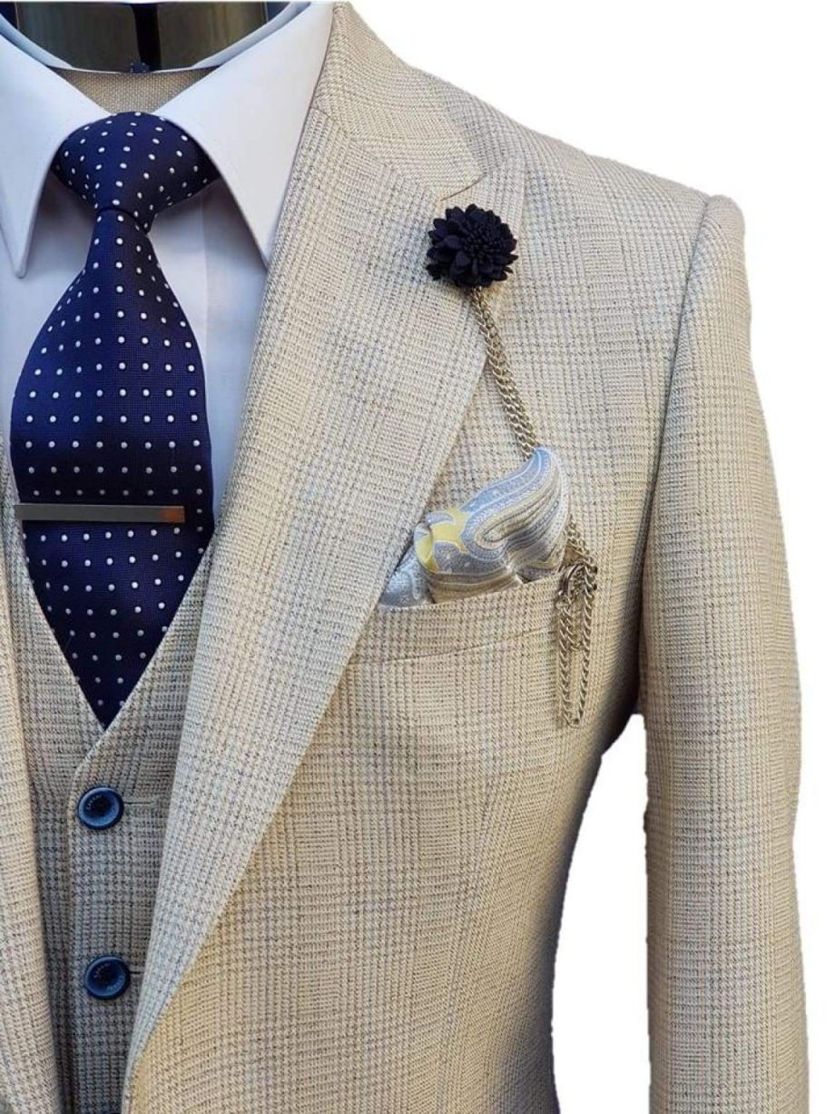 Caridi Cream Groomsman Suit