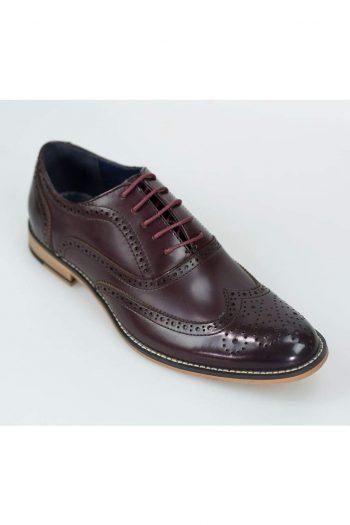 Oxford Burgundy Brogue Shoes by House of Cavani - UK7 | EU41 - Shoes