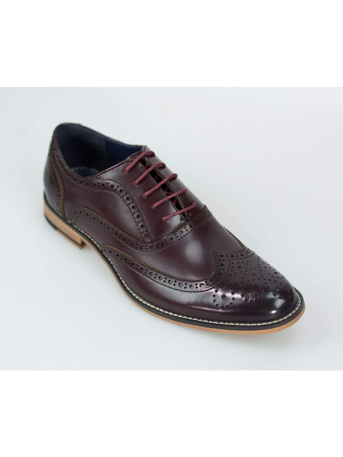 Oxford Burgundy Brogue Shoes by House of Cavani - UK7 | EU41 - Shoes