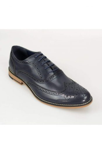 Oxford Navy Brogue Shoes - UK7 | EU41 - Shoes