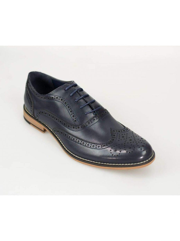 Oxford Navy Brogue Shoes - UK7 | EU41 - Shoes