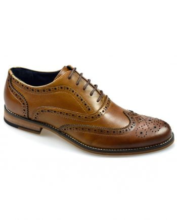 Oxford Tan Brogue Shoes - UK7 | EU41 - Shoes