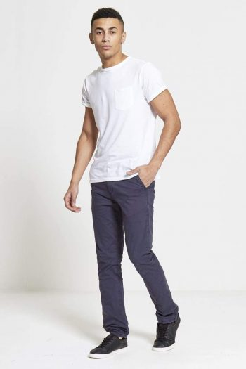 Sabre Slim Fit Stretch Chinos In Navy - Jeans
