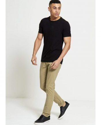 Sabre Slim Fit Stretch Chinos In Stone - Jeans
