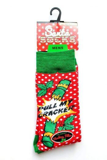 Santa Socks Red Polkadot Socks - Accessories
