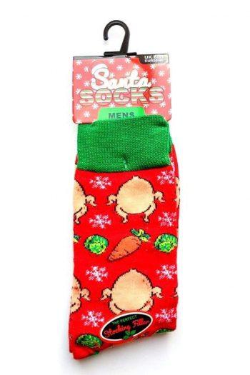 Santa Socks Red Turkey and Carrot Socks - Accessories
