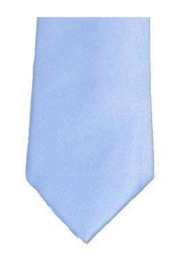 Sky Plain Satin Tie Set - Accessories