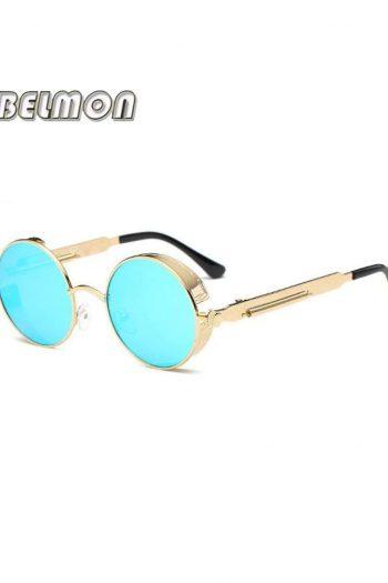 Steampunk Goggles Sunglasses Men Women Luxury Brand Round Sun Glasses For Ladies Retro Circle Vintage Male Female RS291 - RS291-C05