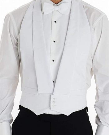 Tailored Fit White Marcella Waistcoat - Suit & Tailoring