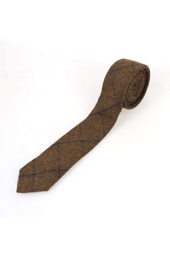 Tobacco Check Tweed Tie Set - Accessories