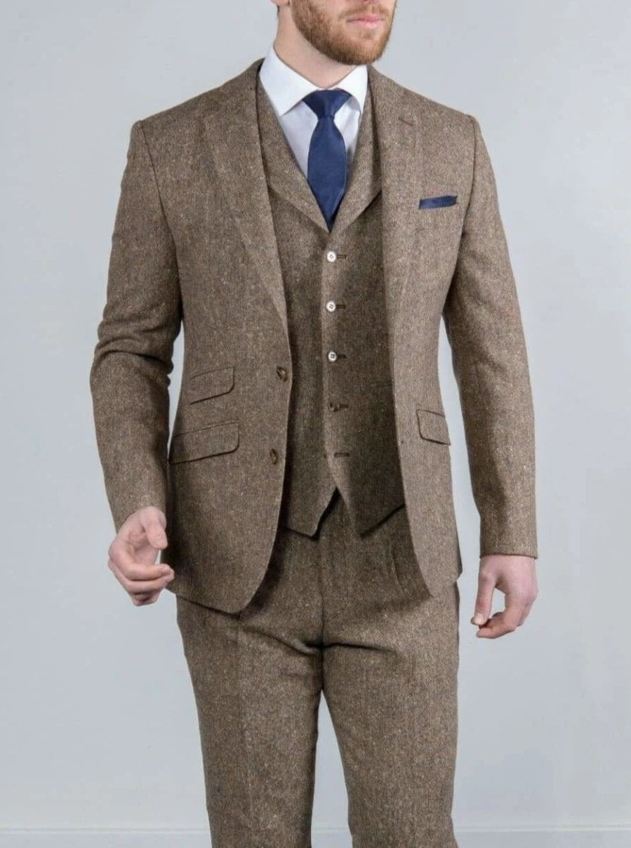 جانبية استقالة استمر Mens Brown Tweed Suit Vest Pleasantgroveumc Net