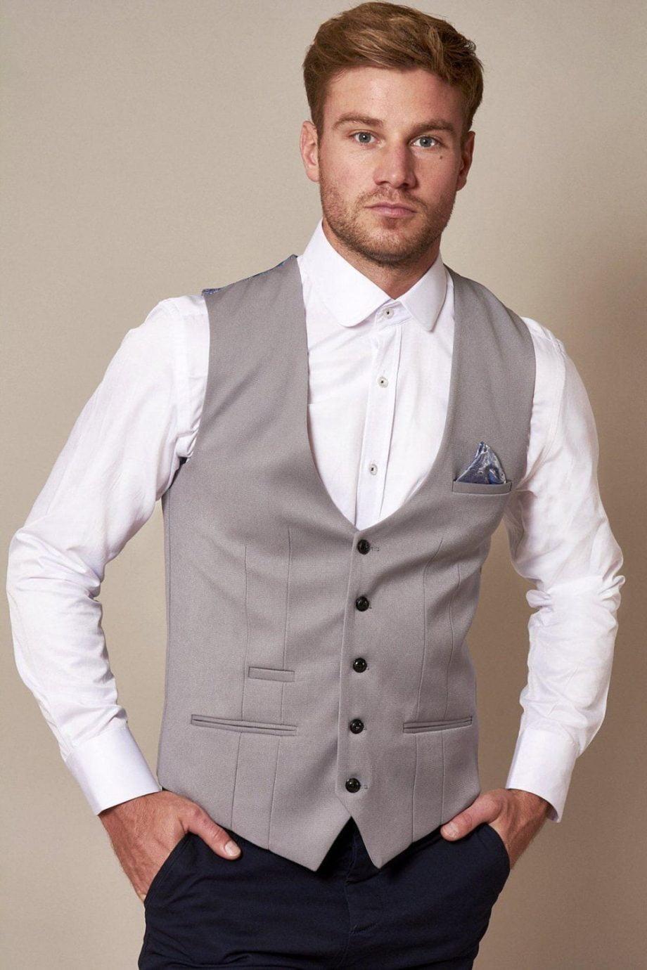 Marc Darcy Kelly Silver Grey Waistcoat